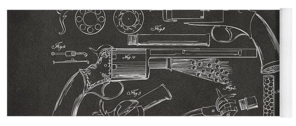 1856 Lemat Revolver Patent Artwork - Gray Yoga Mat