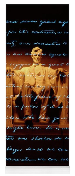1860s Abraham Lincoln Statue Yoga Mat