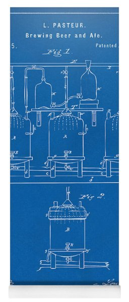1873 Brewing Beer And Ale Patent Artwork - Blueprint Yoga Mat