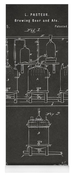 1873 Brewing Beer And Ale Patent Artwork - Gray Yoga Mat