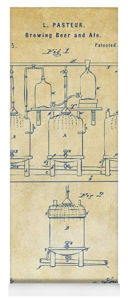 1873 Brewing Beer And Ale Patent Artwork - Vintage Yoga Mat