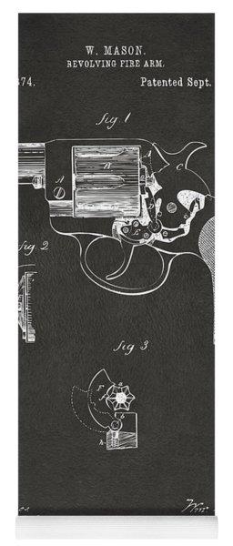 1881 Mason Colt Revolving Fire Arm Patent Artwork - Gray Yoga Mat