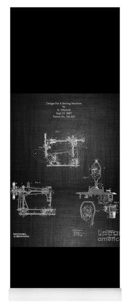 1885 Singer Sewing Machine Yoga Mat