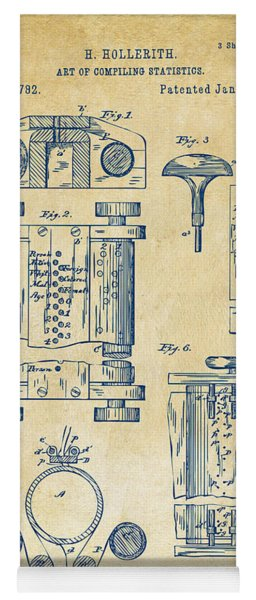 1889 First Computer Patent Vintage Yoga Mat