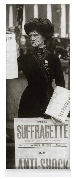 1900s British Suffragette Woman Yoga Mat