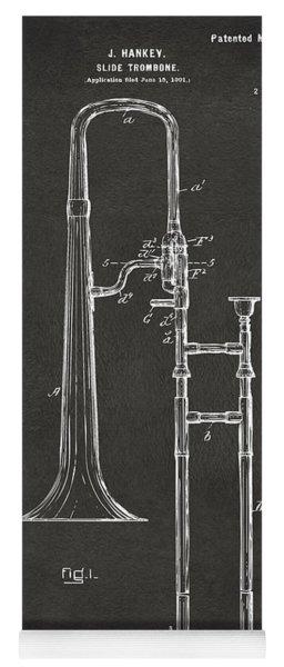 1902 Slide Trombone Patent Artwork - Gray Yoga Mat