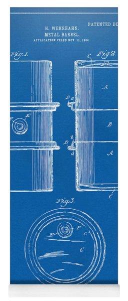 1905 Oil Drum Patent Artwork - Blueprint Yoga Mat
