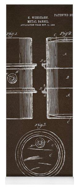1905 Oil Drum Patent Artwork Espresso Yoga Mat