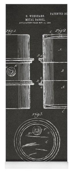 1905 Oil Drum Patent Artwork - Gray Yoga Mat