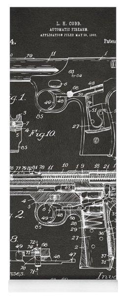 1911 Automatic Firearm Patent Artwork - Gray Yoga Mat