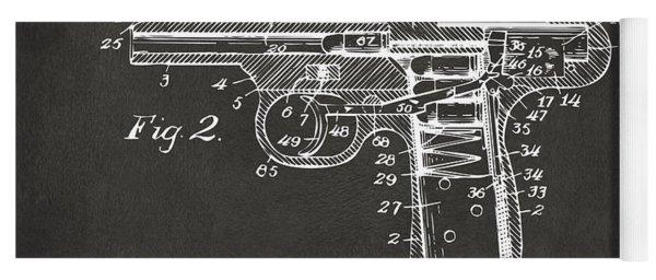 1911 Automatic Firearm Patent Minimal - Gray Yoga Mat