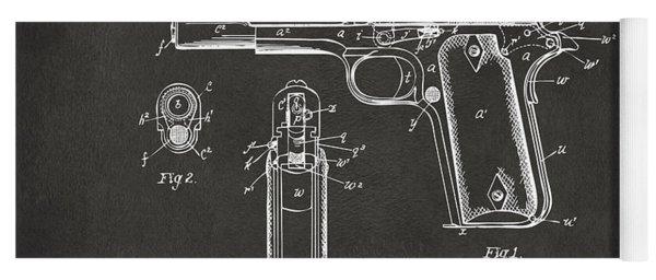 1911 Browning Firearm Patent Artwork - Gray Yoga Mat