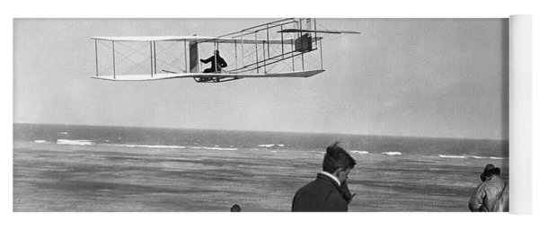 1911 One Of The Wright Brothers Flying Yoga Mat
