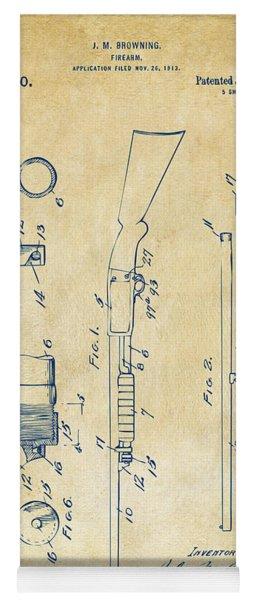 1915 Ithaca Shotgun Patent Vintage Yoga Mat