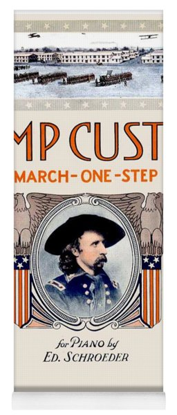 1917 - Camp Custer March One Step Sheet Music - Edward Schroeder - Color Yoga Mat