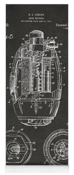 1919 Hand Grenade Patent Artwork - Gray Yoga Mat