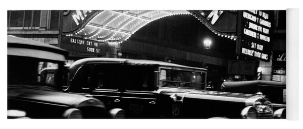 1920s 1930s Cars Taxis Madison Square Yoga Mat