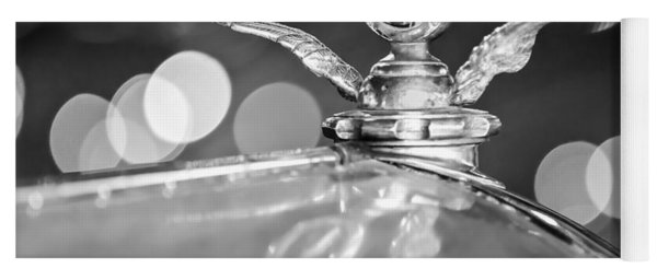1921 Bentley Motometer Hood Ornament -0471bw Yoga Mat
