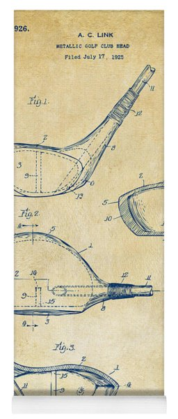 Yoga Mat featuring the digital art 1926 Golf Club Patent Artwork - Vintage by Nikki Marie Smith