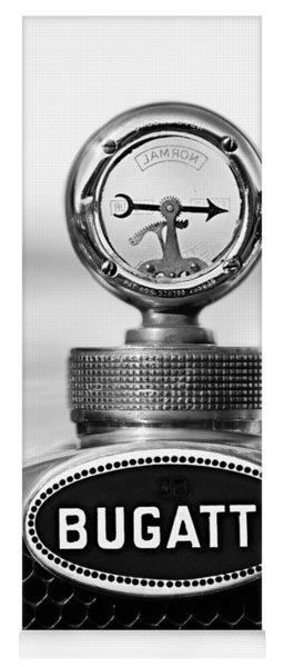1928 Bugatti Type 44 Cabriolet Hood Ornament - Emblem Yoga Mat