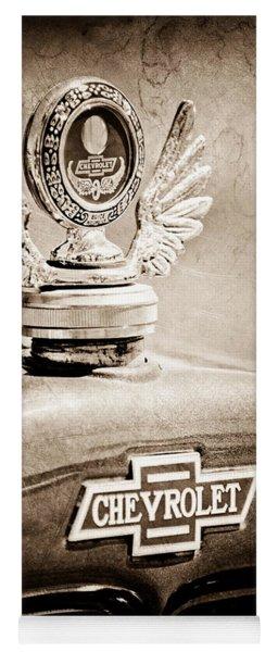 1928 Chevrolet Stake Bed Pickup Hood Ornament - Emblem Yoga Mat