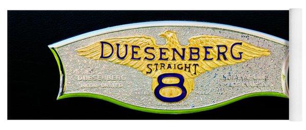 1930 Duesenberg Model J Lwb Dual Cowl Phaeton Emblem Yoga Mat