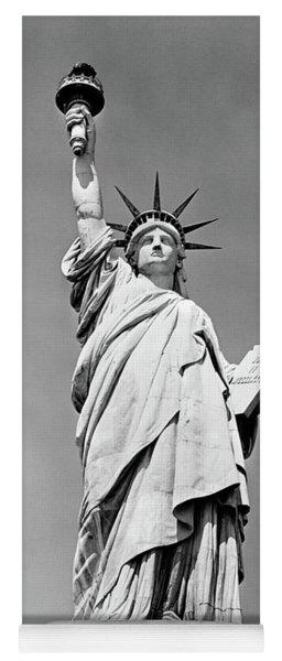 1930s Statue Of Liberty Ny Harbor Ellis Yoga Mat