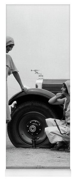 1930s Two Women Confront An Automobile Yoga Mat