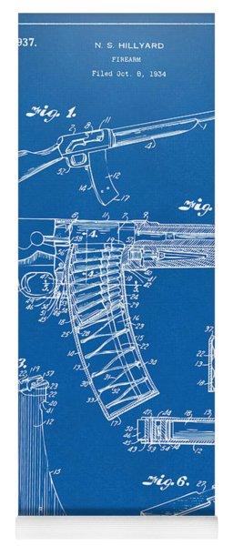 1937 Police Remington Model 8 Magazine Patent Artwork - Blueprin Yoga Mat