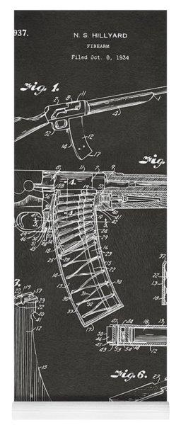 1937 Police Remington Model 8 Magazine Patent Artwork - Gray Yoga Mat