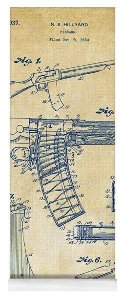 1937 Police Remington Model 8 Magazine Patent Artwork - Vintage Yoga Mat