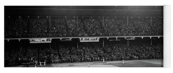 1940s 1947 Baseball Night Game Yoga Mat