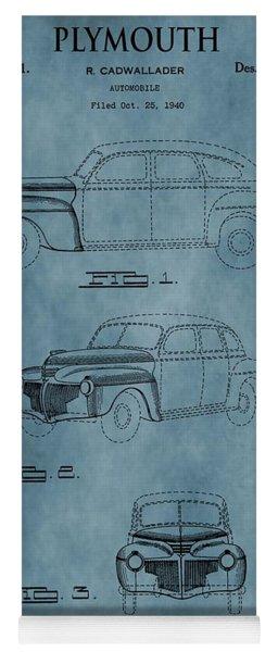 1941 Plymouth Patent Blue Yoga Mat