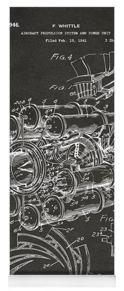 1946 Jet Aircraft Propulsion Patent Artwork - Gray Yoga Mat