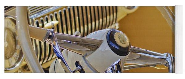 1947 Cadillac 62 Steering Wheel Yoga Mat