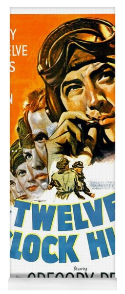 1949 - Twelve O Clock High Movie Poster - Gregory Peck - Dean Jagger - 20th Century Pictures - Color Yoga Mat