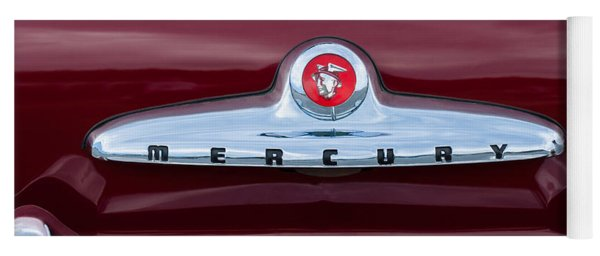 1949 Mercury Coupe Emblem Yoga Mat