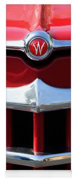 1950 Willys Overland Jeepster Hood Emblem Yoga Mat