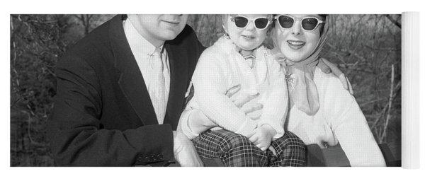1950s Family Portrait With Sunglasses Yoga Mat