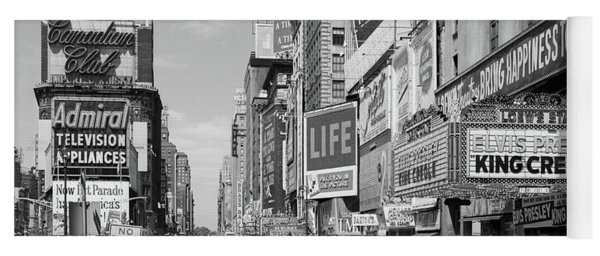 1950s Times Square View North Up 7th Yoga Mat