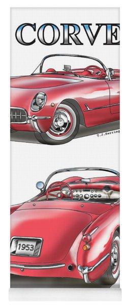 1953 Corvette Yoga Mat