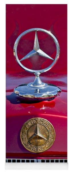 1953 Mercedes Benz Hood Ornament Yoga Mat