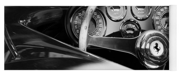 1954 Ferrari 500 Mondial Spyder Steering Wheel Emblem Yoga Mat