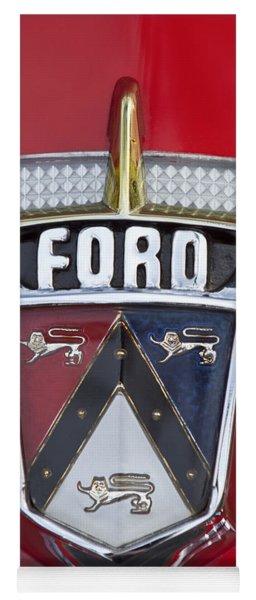 1956 Ford Fairlane Emblem Yoga Mat