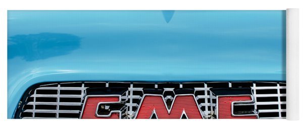 1956 Gmc 100 Deluxe Edition Pickup Truck Hood Ornament - Grille Emblem Yoga Mat