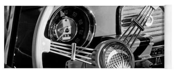 1956 Volkswagen Vw Bug Steering Wheel Emblem Yoga Mat