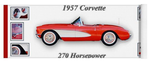 1957 Chevrolet Corvette Art Yoga Mat