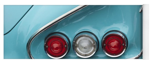 1958 Chevrolet Impala Taillights  Yoga Mat