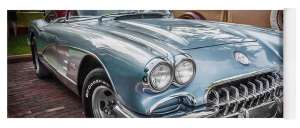 1958 Chevy Corvette Painted Yoga Mat
