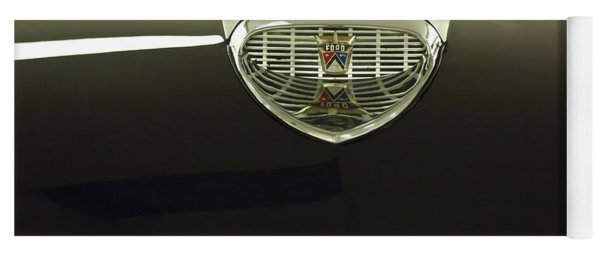 1958 Ford Fairlane 500 Victoria Hood Ornament Yoga Mat